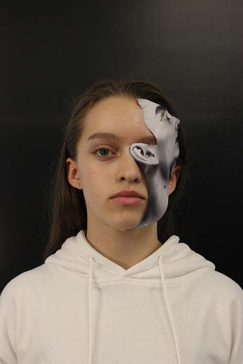 """Live"" Collage Portraits Unpack Notions of Representing Self, Grade 9"