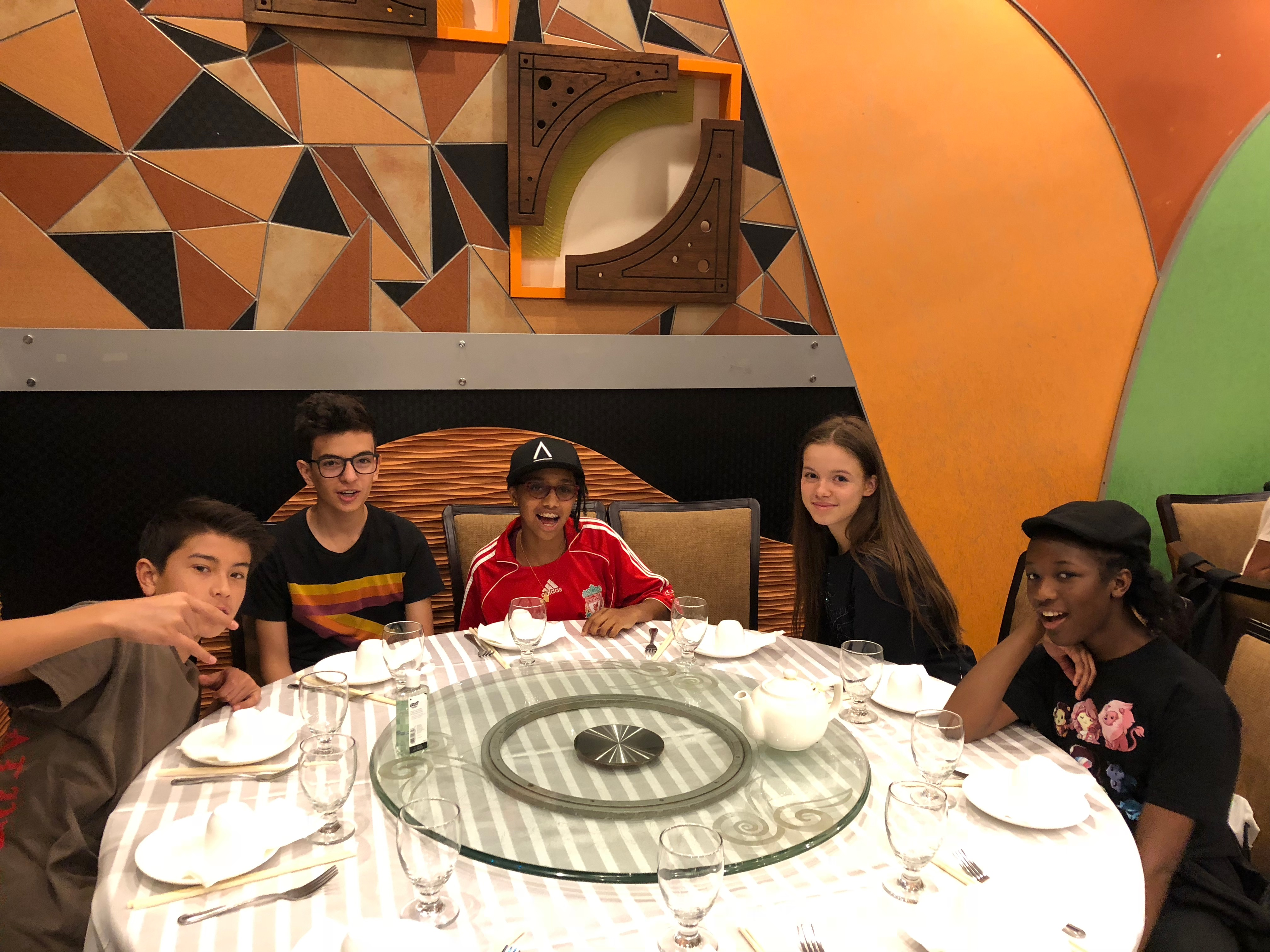 Students were excited at the opportunity to try dim sum in Flushing