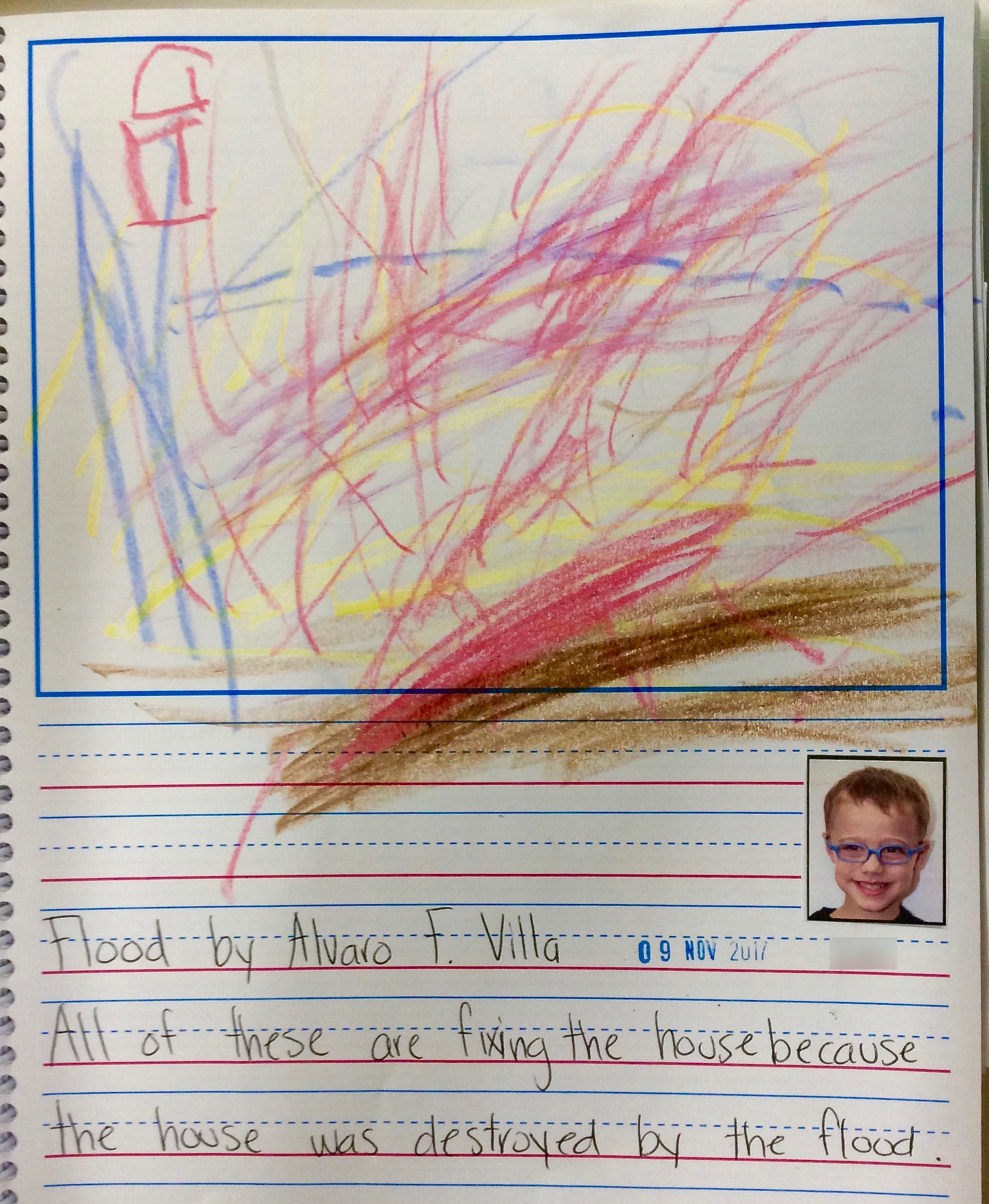 A student's journal entry in response to the book.