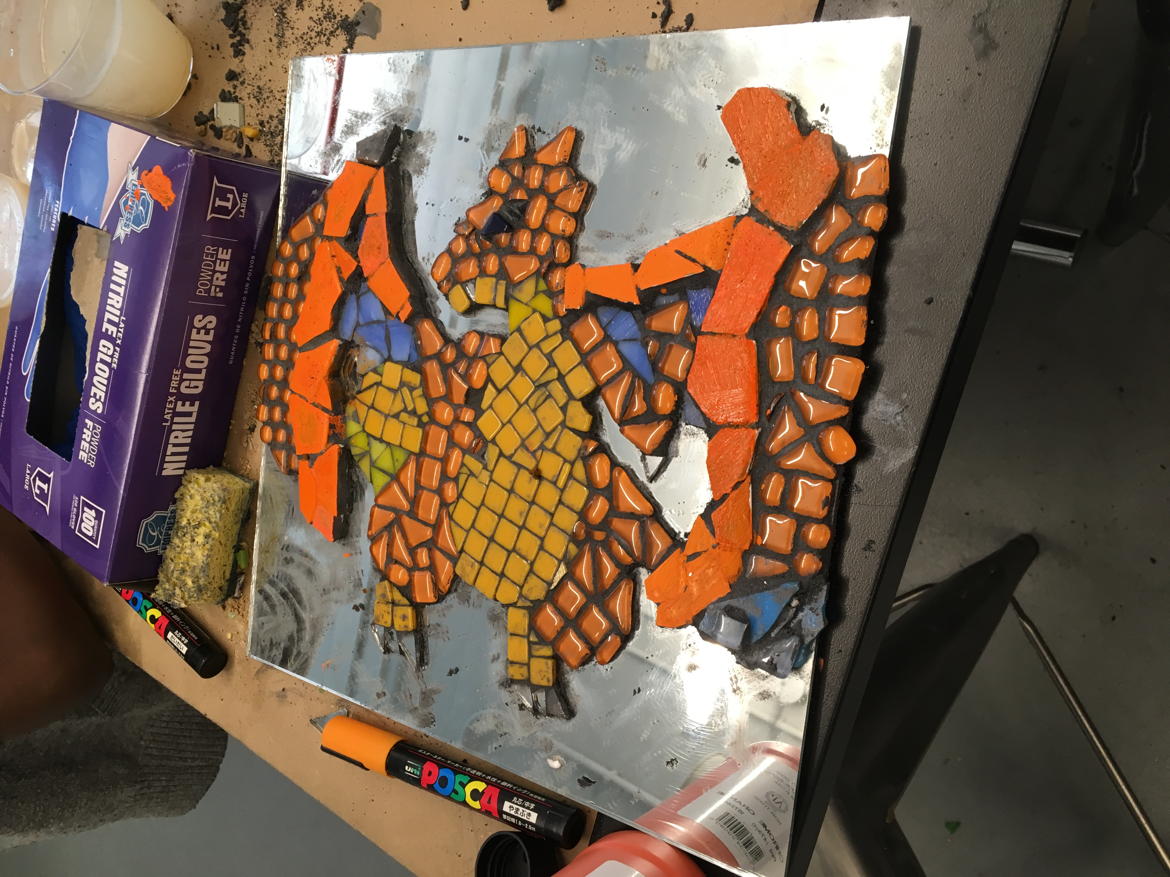 A mosaic in progress